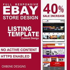 Tienda de tienda eBay listado plantilla HTML móvil con capacidad de respuesta Diseño 2017 compatible