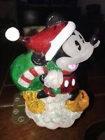 Disney Mickey Mouse Santa Claus Night Light Lite Plastic Christmas Hat