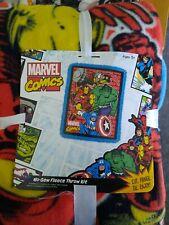 "Marvel Comics No Sew Throw Kit Fleece Blanket 43""×55"""