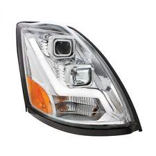 2004+ Volvo VN/VNL Projection Headlight, Chrome-LED Position Light Bar-Passenger