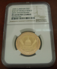 Great Britain 2005 Gold  2 Pounds NGC PF68UC End of World War II - 60th Anniv.