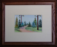 Southwestern Fir and Pines, Original Watercolor by NM Artist Vivian Ashcraft