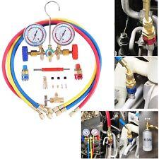 3 Way Ac Manifold Gauge Set Hvac Diagnostic Freon Charging Tool Quick Couplers
