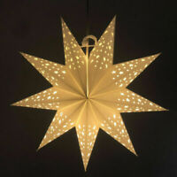 45CM Hollow Out Stars Shaped Paper Lantern LED Illuminated Lantern Party Decor