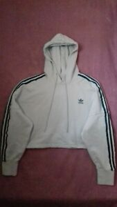 Adidas Originals Womens Oversized Cropped Hoodie Size 10 (Can Also Fit Size 12)