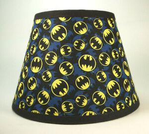 Batman Signal Blue Black Logo Fabric Lamp Shade Lampshade Handmade