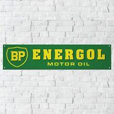 BP Energol Banner Motor Oil Fuel Garage Workshop Vintage Retro PVC Sign