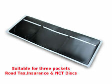 1 x Car Van Road Tax/ Insurance/ NCT Disc Holder Black - New Wallet Permit