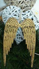 Engelsflügel Gold Engel Weihnachten Winter Shabby Chic NEU 12cm X19CM Metall