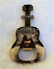 HARD ROCK CAFE GOTHENBURG VIKING BOTTLE OPENER GUITAR MAGNET