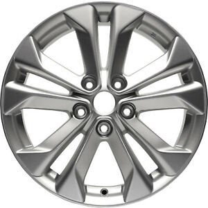 62617 Factory, OEM 17X7 Alloy wheel Bright Silver Full Painted