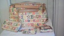 Dooney & Bourke Ex-large SCRIBBLE Handbag with (3) accessories