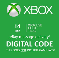 Xbox Live 14 Day Gold Trial Membership Code (DOES NOT INCLUDE GAME PASS)