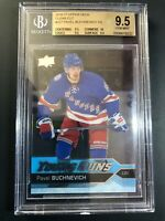 2016-17 Upper Deck Pavel Buchnevich Young Guns Clear Cut Rookie BGS 9.5 True Gem