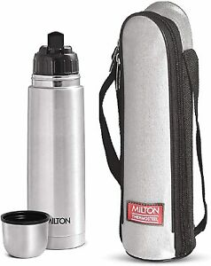 New Milton Thermosteel Flip Lid Flask, 1000 milliliters, (Silver)