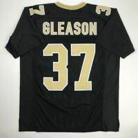 New STEVE GLEASON New Orleans Black Custom Stitched Football Jersey Size Mens XL