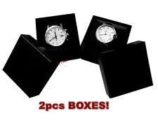 2pcs Watch Box for Bracelet Bangle Jewelry Paper Cardboard Gift Case Black *NEW*