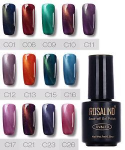 Cat Eye Magnetic Gel Polish UV LED Soak Off Glitter Nail Art Manicure, UK Seller
