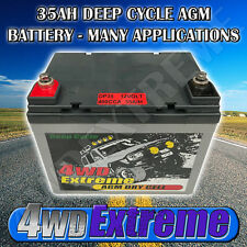 4WDEXTREME 35AH 12V DEEP CYCLE AGM DRY CELL BATTERY - GOLF CART MOBILITY DP35