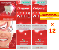 Lot of 12 Colgate Optic White Sparkling Mint Gel Toothpaste Fluoride Whitening