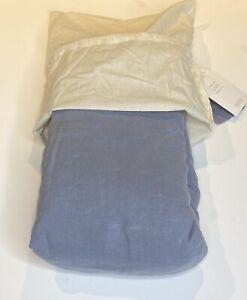 Restoration Hardware Garment-Dyed Linen Fitted Sheet Queen Ocean NEW $119
