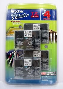 Brother 4 Value Pack P-Touch Tape (TZe2314PK) New & Sealed - Free Shipping