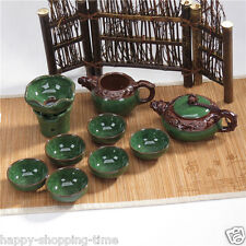 Porcelain tea set crackle glaze ceramic China kung fu tea set tea pot cups set