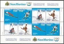 SAN MARINO 1994 foglietto Olimpiadi Invernali di Lillehammer **