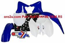 New Plastic Kit Motocross YZF 250/400/426 98-02 Blue/White OEM Plastics