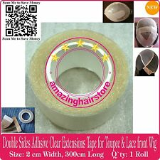 Double Sides Tap for Hairpiece Toupee Skin Weft Tape Hair Extensions-2cm X 300cm