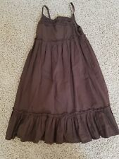 CHEROKEE - Girls Brown Cotton Sundress Casual - Medium 7 / 8 Classic!