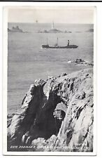 Enys Dodman & Longships Lighthouse RP PPC 1953 PMK to Figgins, Ronwell