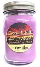 Coconut Milk & Lavender 16 Ounce Country Jar 100% Soy Candle - Handmade in USA