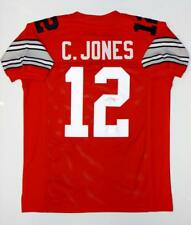 Cardale Jones Autographed Red College Style Jersey- JSA Authenticated