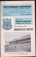 1966/67 TOTTENHAM HOTSPUR V MANCHESTER UNITED 10-09-1966 Division 1