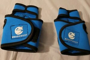 Beachbody Turbo Jam Weighted Gloves Hand Wrist Blue Fitness Workout Health C4