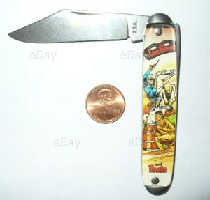 COLLECTOR NOVELTY POCKET KNIFE USA LONE RANGER AND TONTO COWBOY WESTERN FOLDING