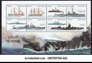 ANGOLA - 1999 SHIPS AND BOATS - MINIATURE SHEET MNH