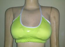 Authentic Lime Green NIKE FIT DRY Swimwear Sports Bra with Pads 29-8-60 Sz:S