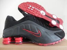 NIKE SHOX R4 BLACK-WHITE-VARSITY RED SZ 8.5 [104265-020]