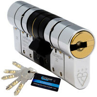 Schlosser Technik 3 Star High Security Euro Cylinder Lock Anti Snap TS007 5 Keys