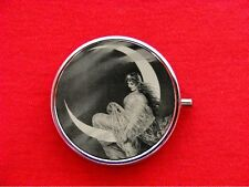 MOON GODDESS FAIRY PIN UP GIRL ROUND METAL PILL MINT BOX CASE