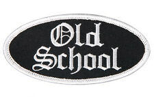 OLD SCHOOL OVAL EMBROIDERED 4 INCH IRON ON MC BIKER PATCH BY MILTACUSA
