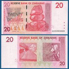 SIMBABWE / ZIMBABWE 20 Dollars 2007 UNC  P. 68