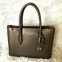 New Kate Spade Small Top Zip Satchel Eva Ashmetalli Leather Crossbody Hand Bag