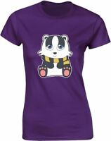 House Mascot Badger Design Ladies Printed T-Shirt Casual Cotton Women Summer Tee