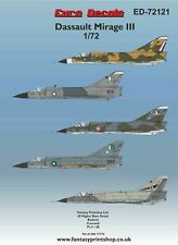 Dassault Mirage III in France, Australia, Pakistan (1/72 Euro Decals 72121)