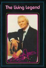 GEORGE JONES, THE LIVING LEGEND 1980s Souvenir Postcard NEAR MINT Unused