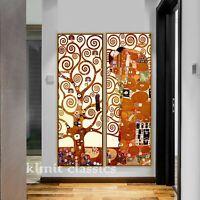2 Piece Canvas Prints - Gustav Klimt Fulfillment Tree of Life Painting Unframed