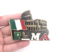 3D Metal Fridge Magnet Travel Souvenir Memorabilia - Colosseum, Roma, Italy